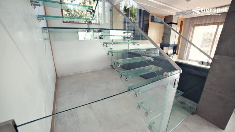 Balustrady szklane samonośne